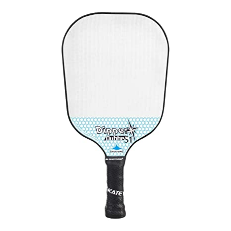SKATEWING Pickleball Paddle Polypropylene Face Polymer Honeycomb Core Ultra Cushion 4.40 Inch Grip Lightweight Pickleball Racket