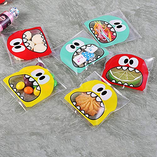 JZK 600x Monster self-Adhesive Cookie Bags Sweetie Bags
