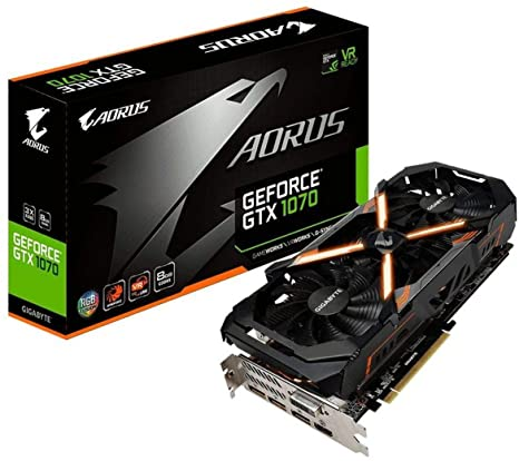 Gigabyte AORUS GeForce GTX 1070 8GB Graphic Cards (GV-N1070AORUS-8GD REV2 0)