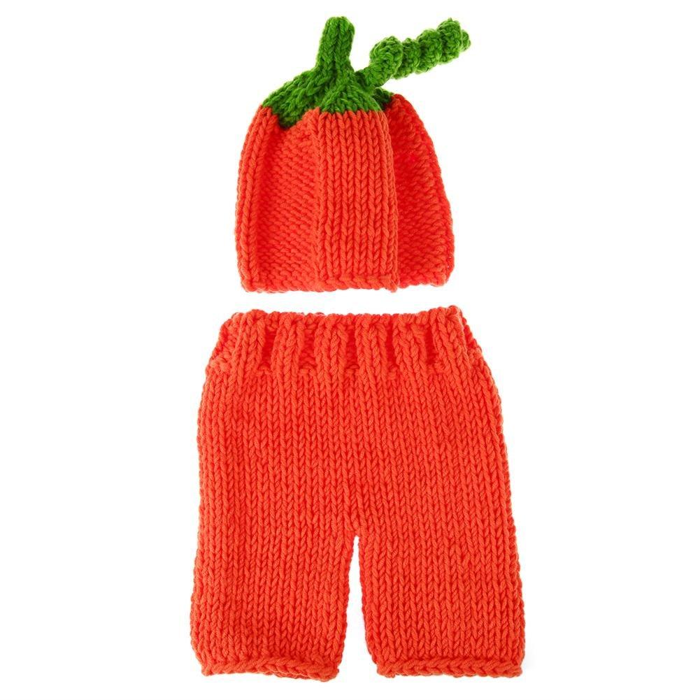 Chinatera Newborn Photo Prop Baby Girls Boys Cute Crochet Xmas/Pumpkin/Striped Knitting Costume Photography