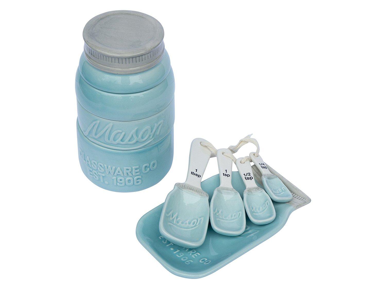 Amazon.com: NEW! Blue Mason Jar Measuring Cups Set! These Unique ...