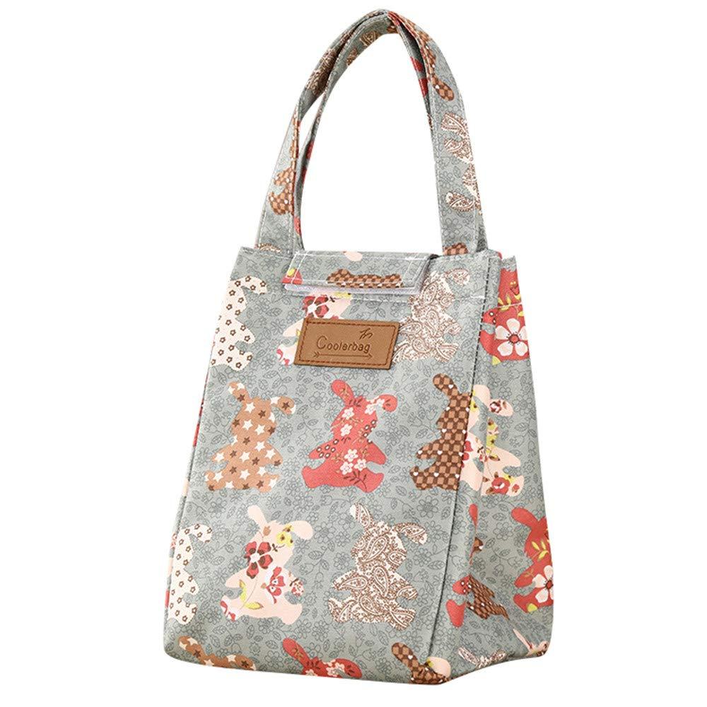 Bearbelly Sac Isotherme Repas Femme Lunch Bag Sac /à d/éjeuner Sac Fra/îcheur Portable Sac de Pique-Nique pour Le /École et Le Travail Floral