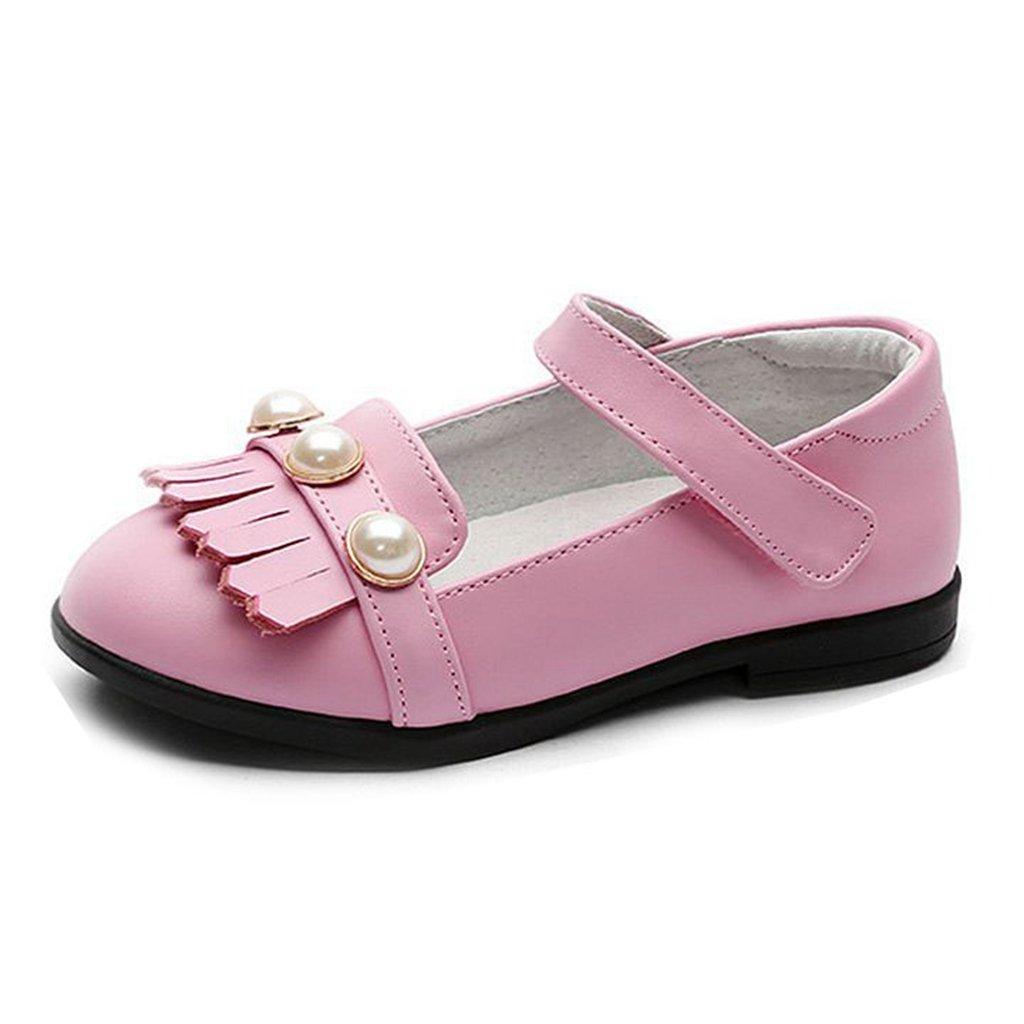 GIY Little Girl Mary Jane Ballerina Casual Slip On Pearl Kid Dress Ballet Flat Shoes