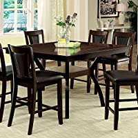 247SHOPATHOME Idf-3984W-PT-7PC Dining-Room, 7-piece Set, Dark Cherry