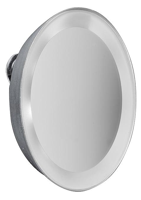 2 opinioni per MACOM Sensation 225 Moonlight Mini Specchio con Ventose e Luci LED, Ingrandente