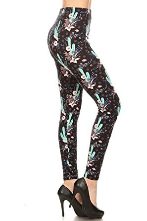 9db264e3 Leggings Depot Women's Ultra Soft Printed Fashion Leggings BAT13 at ...