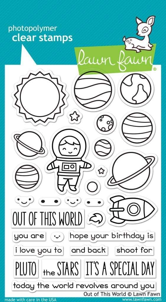 Lawn Fawn Clear Stamps - Out of This World (LF1330)