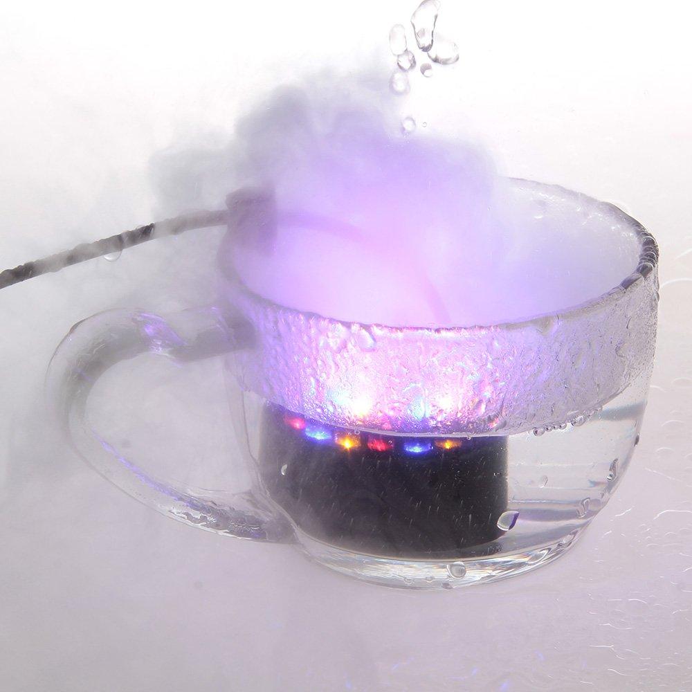 12LED Ultrasnic Fountain Mist Maker Atomizer Fogger Pond Aquarium W/US Adaptor