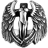 Men's 316L Stainless Steel Large Cross Angel Wing - Best Reviews Guide