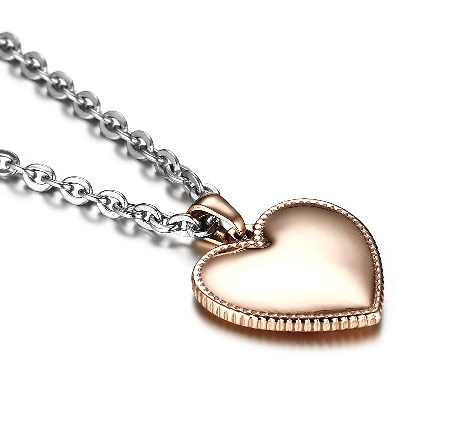 Amazon com: JF JEWELRY Rose Gold-Plated Heart-Shaped Medical