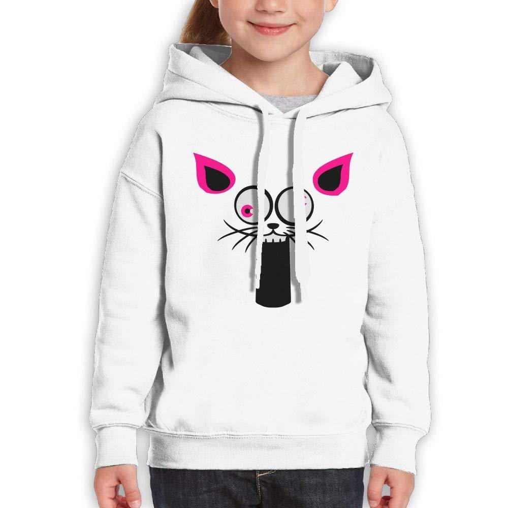 Crazy Cat Face Kids Hoody Print Long Sleeve Sweatshirts Girl