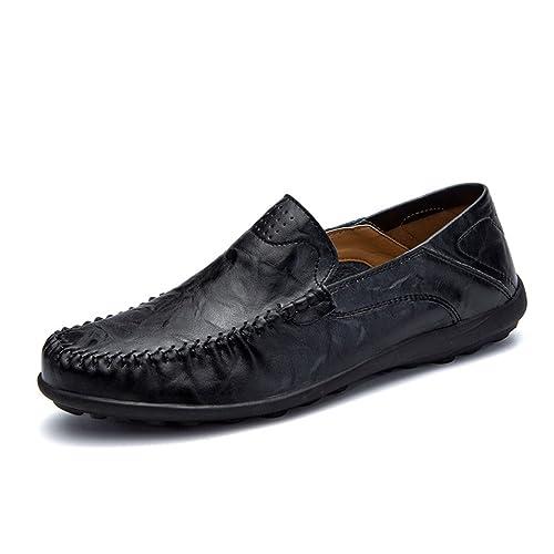 Zapatos para Hombre Mocasines de Verano Casuales Zapatos de Cuero Respirable para Barcos: Amazon.es: Zapatos y complementos