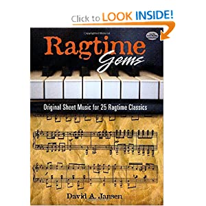 Ragtime Gems: Original Sheet Music for 25 Ragtime Classics (Dover Music for Piano) Classical Piano Sheet Music and David Jasen