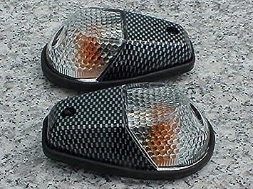 Carbon/Clear Flush-Mount Turn Signals for Honda CBR600RR CBR1000RR CBR 600RR 1000RR F3 F4i RR Kawasaki Ninja 250 300 500 ZX6R ZX10R Suzuki GSXR600 ...
