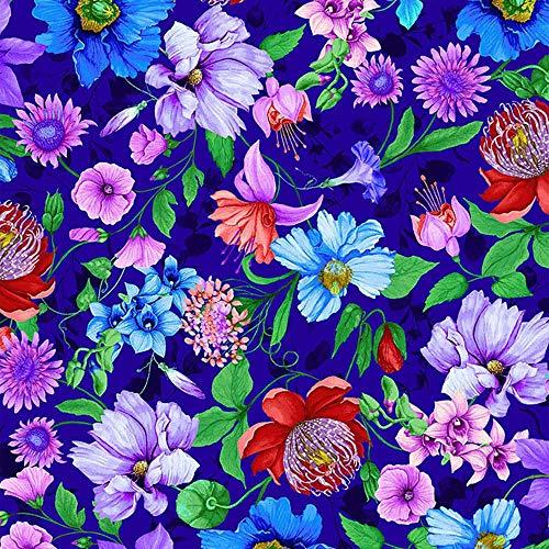 Timeless Treasures Fabrics Fairy Fantasy Royal Fantastic Flowers