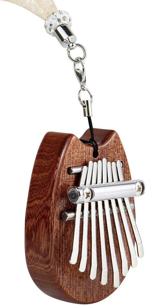 forme doreille de chat Alnicov Piano /à pouce Kalimba /à 8 touches piano /à doigts en bois massif Super MiNi avec cordon adapt/é aux d/ébutants en anniversaire de No/ël et autres occasions