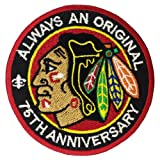 1 X Chicago Blackhawks Logo II Embroidered Iron Patches