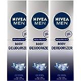 Nivea Men Fresh Protect Body Deodorizer Ice Cool, 120 ml (Pack of 3)