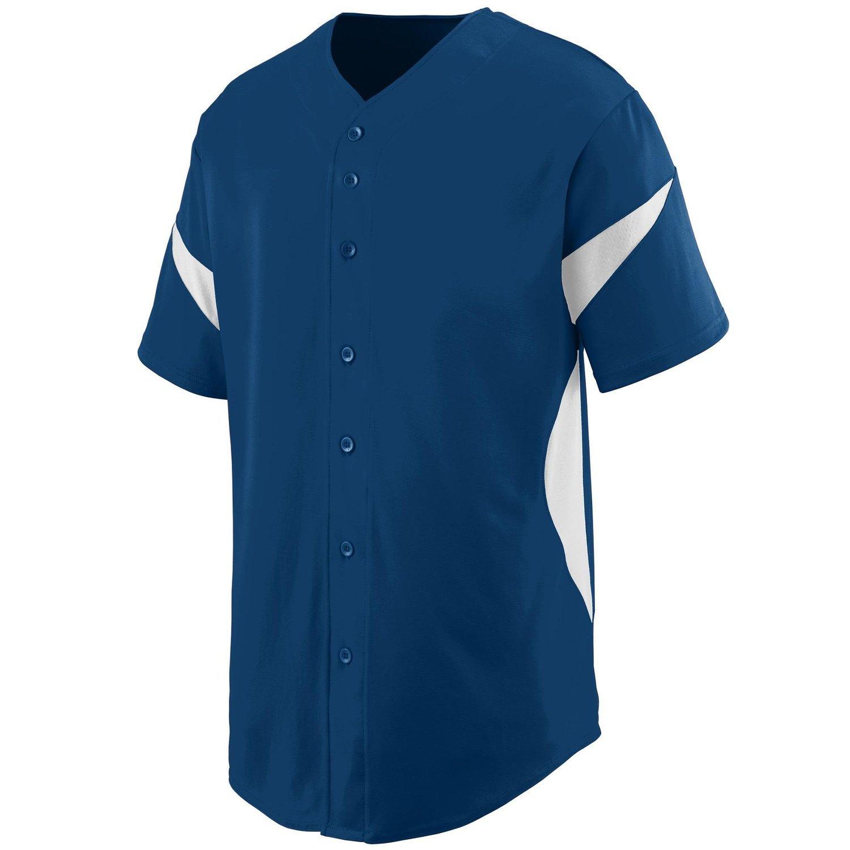 Augusta SportswearメンズホイールHouse Baseball Jersey B00P53RYAG XXX-Large|ネイビー/ホワイト ネイビー/ホワイト XXX-Large