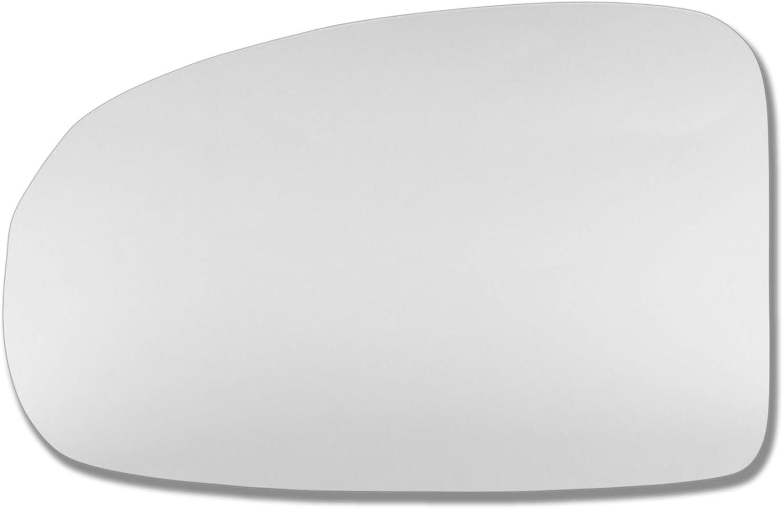 Spiegelglas Glas links T/ür Stick auf Spiegel Ersatz Beifahrerseite Quick Fix Silber # toiq-09//15-l /_ C toiq Echtglas