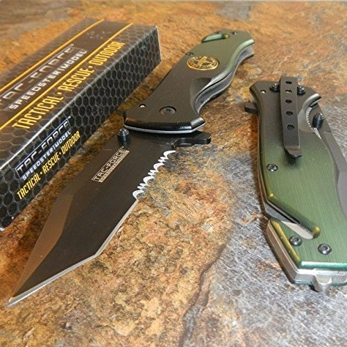 New TAC-FORCE Assisted Opening Rescue RANGERS Glass Breaker RESCUE Eco'Gift LIMITED EDITION Knife with Sharp Blade Great For Fun and Practical Use!