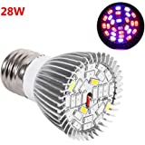 E27 Base LED 28W 28 LED Plants Grow Light Bulb For Hydroponic Garden Indoor Planting Growing Round Bulb Wholesale