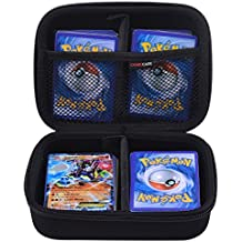 Comecase Hard Case for Pokemon Trading Cards. Includes 2 Removable Divider and HAND STRAP. Fits up to OVER 360 Cards. Perfect for Kids!