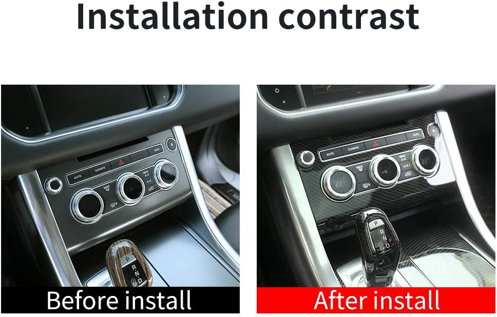 YIWANG Carbon Fiber Style ABS Car Console Air Conditioning Vent Panel Cover Trim for Land Rover Range Rover Sport 2014-2017 Accessories