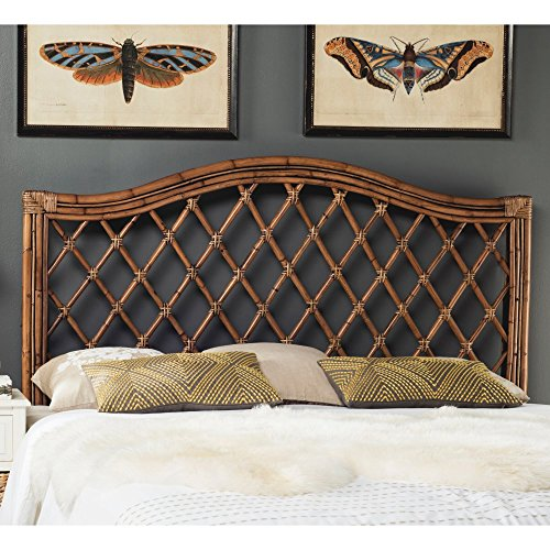 Safavieh Home Collection Gabriella Brown & Multi Wicker Headboard, ()