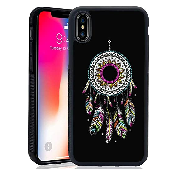competitive price 5443f 19236 iPhone X/XS Case, Top Selling Lovely Soft Silicone Cover Case Beautiful  Indian Style Dream Catcher Dreamcatcher Phone case for iPhone Xs case  (Black ...