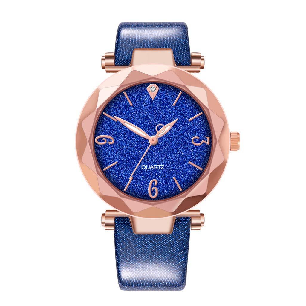 DaoAG-Accessories Women's Quartz Watch Quartz Wrist Watch Stainless Steel Strap Sparkling Wrist Watch Men's Steel Watch
