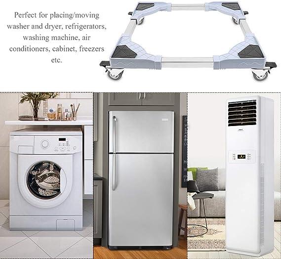 Base Móvil de Lavadora con 4 ruedas Multifuncional Rodillo de carro ajustable para Lavadora Refrigerador Secador: Amazon.es: Grandes electrodomésticos