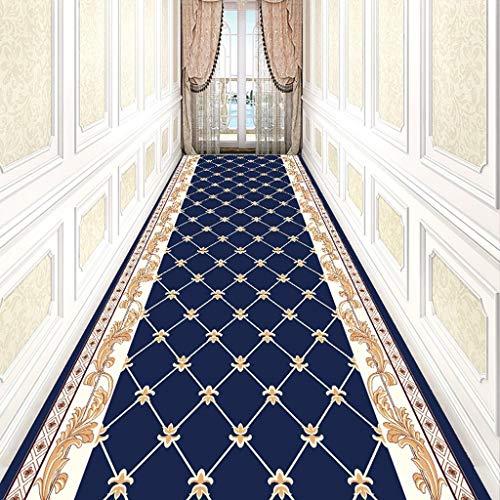 SMDITAN Long Carpet Can Cut The Entrance Hall Entrance Cushion European Aisle Stairs Anti-Slip Mat Full Shop Hotel Corridor Living Room Carpet (Color : DT-040, Size : 0.8×3 ()