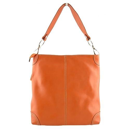 Amazon De Y Italia En Bolso Color Echa Mujer Hombro Piel Para Zapatos Complementos Naranja Mujer Peleteria es wdSqgd7