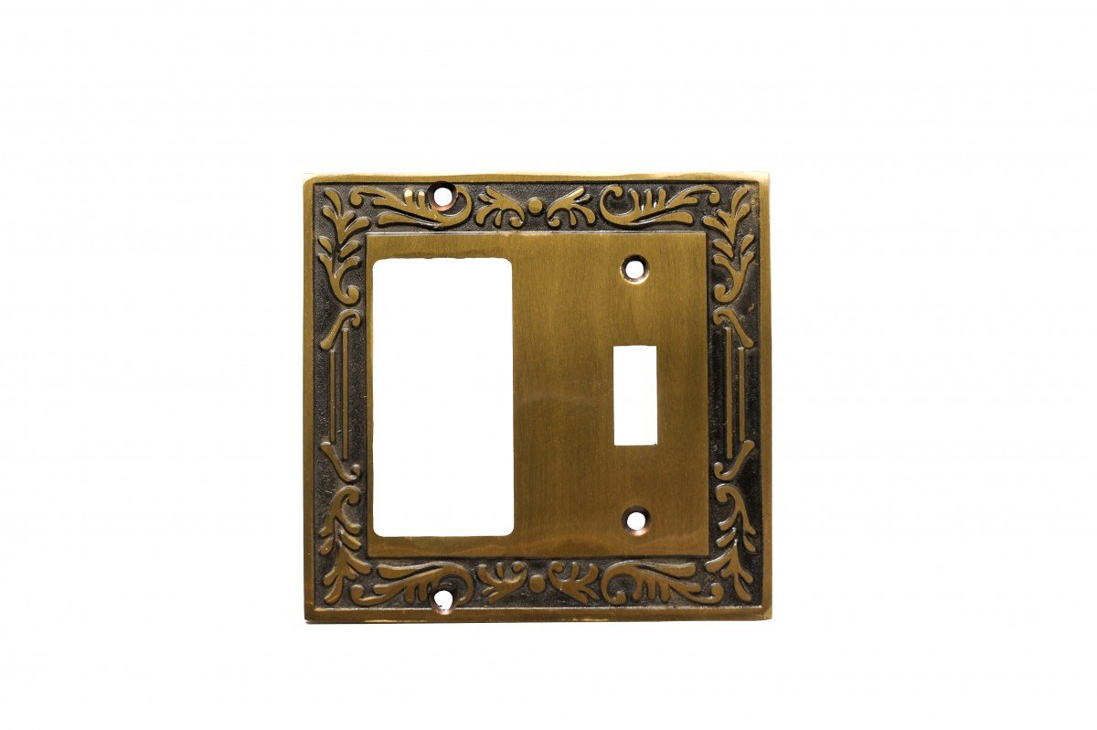 Victorian Switch Plate Toggle GFI Antique Solid Brass | Renovator's Supply