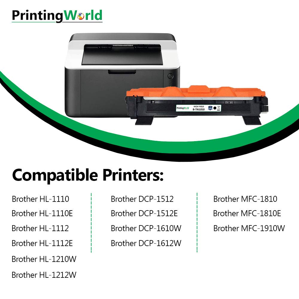 PrintingWorld Reemplazo para Brother TN1050 TN-1050 Cartucho de ...