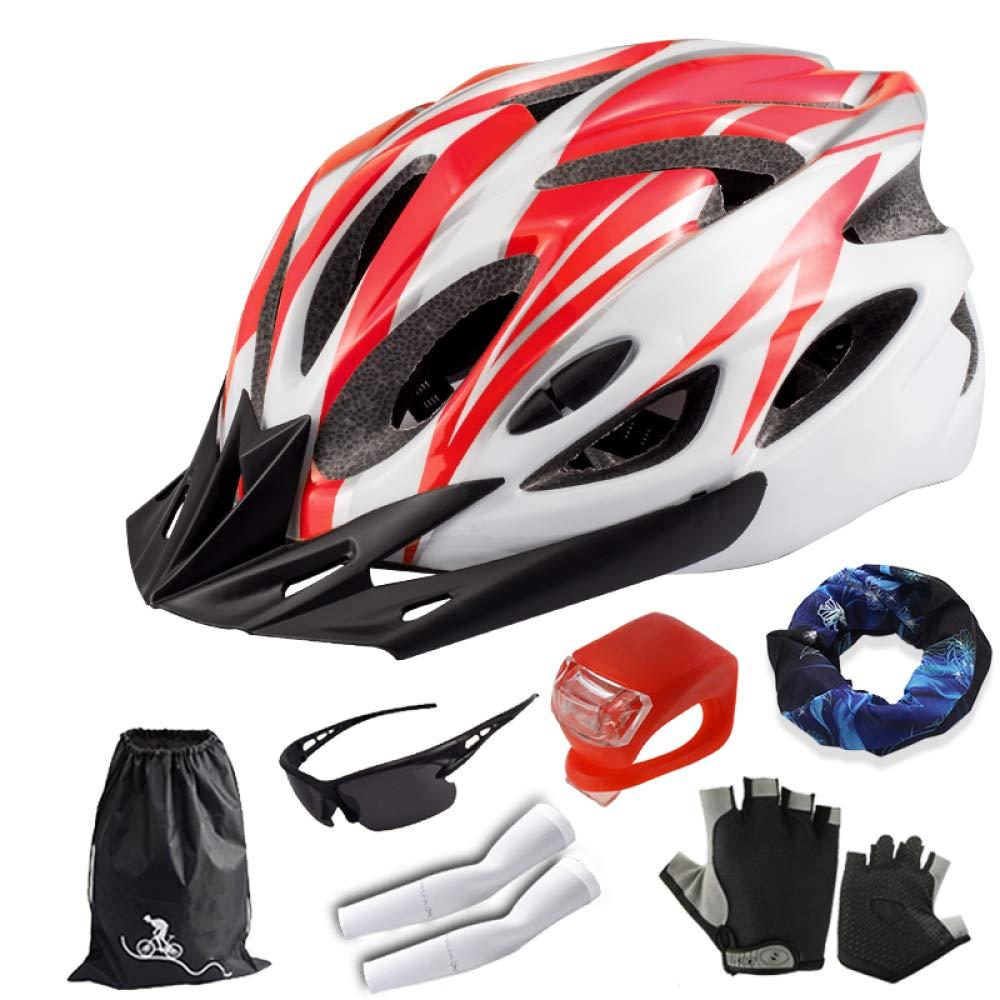 CZZ Casco De La Bicicleta, Casco De Bicicleta Masculino del Casco De La Bici De Montaña, Equipo De Montar De Una Sola Pieza,B,Casco