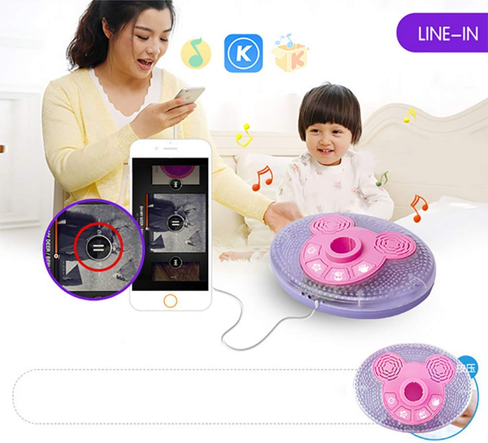 Kid Microphone Toys, Kids Children's Karaoke Machines with Stand, Kid Gifts for 3 4 5 6 Year Old Girls,A by GHDE& (Image #5)