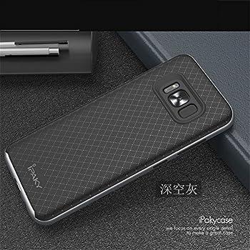 Samsung Galaxy S8 Case, LWGON Slim Fit Hybrid Bumper Silicone Back Case for Samsung Galaxy S8 (Hybrid grey)
