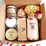 SHIP NEXT DAY Rose Blossom Spa Gift Set - Gifts for her, relaxation spa kit, Aromatherapy gift basket Spa gift set for her Birthday gift basket for women, mom, friend. Handmade Gifts by Beets & Apples
