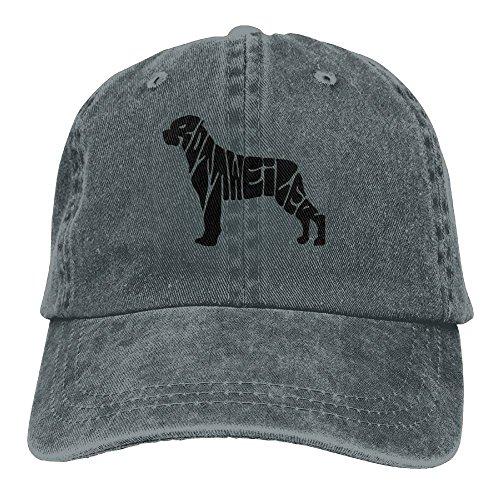 (Jshajshk Unisex Rottweiler Musician Cap Rottweiler Musician Hats Stained Hat Asphalt)