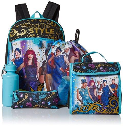 Price comparison product image Disney Girls' Descendants 5 Pc Set Backpack, Blue