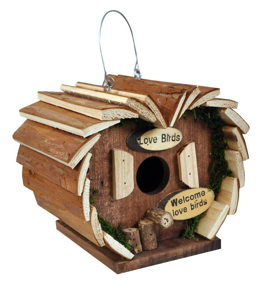 Kingfisher Vogelhotel aus Holz Bild