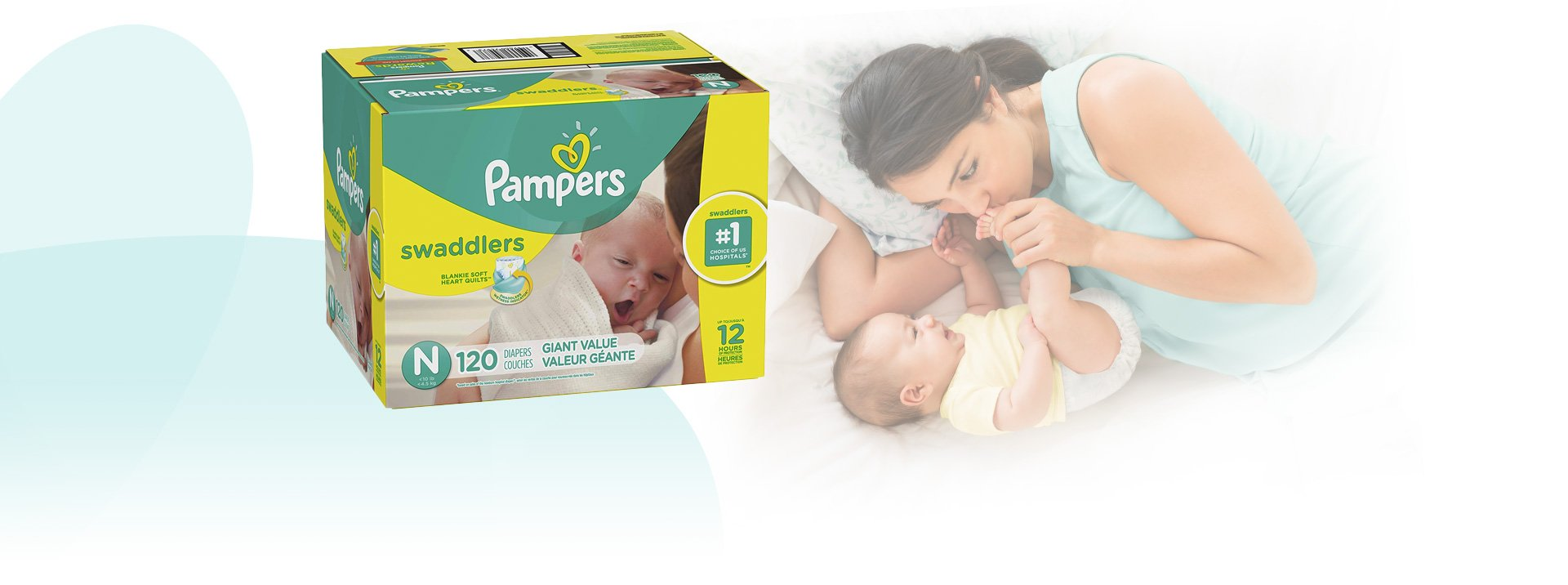 Pampers Swaddlers Disposable Diapers Size Newborn, 120 Count by Pampers (Image #2)