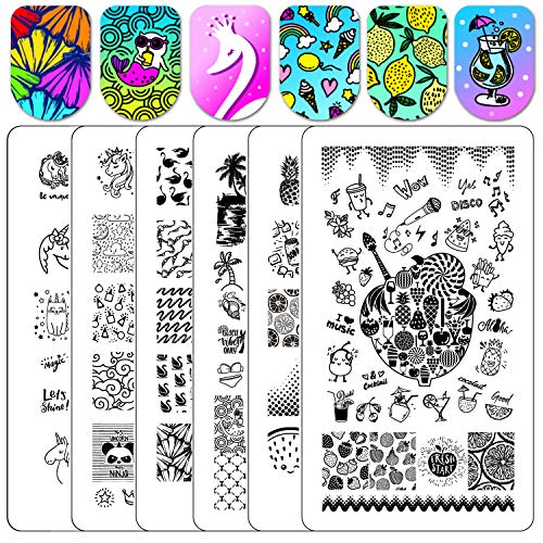 Stamping Plates Nail Stamper Plate - Ejiubas Double for sale  Delivered anywhere in USA