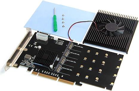 BGNing - Disco Duro SSD LM313 PCI-E 8X/16X a 4P NVME con Chip ...