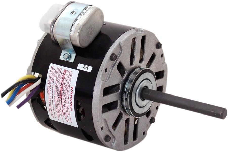 AO Smith 9704 5.6-Inch Frame Diameter 1/8 HP 1550 RPM 115/208-230-Volt 2.7-Amp Sleeve Bearing Blower Motor