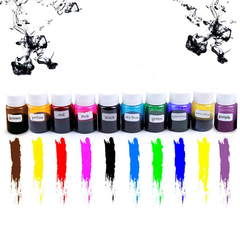 Meiyiu 10 Colors Epoxy Pigment, DIY Liquid Crystal Special Color Concentrate Resin Crystal Drops Hand Making Material