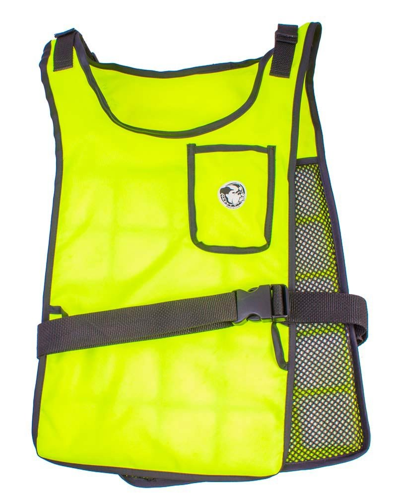 Self Charging High Vis Lime Cooling Vest with Inserts by AllTuffUSA (Image #4)