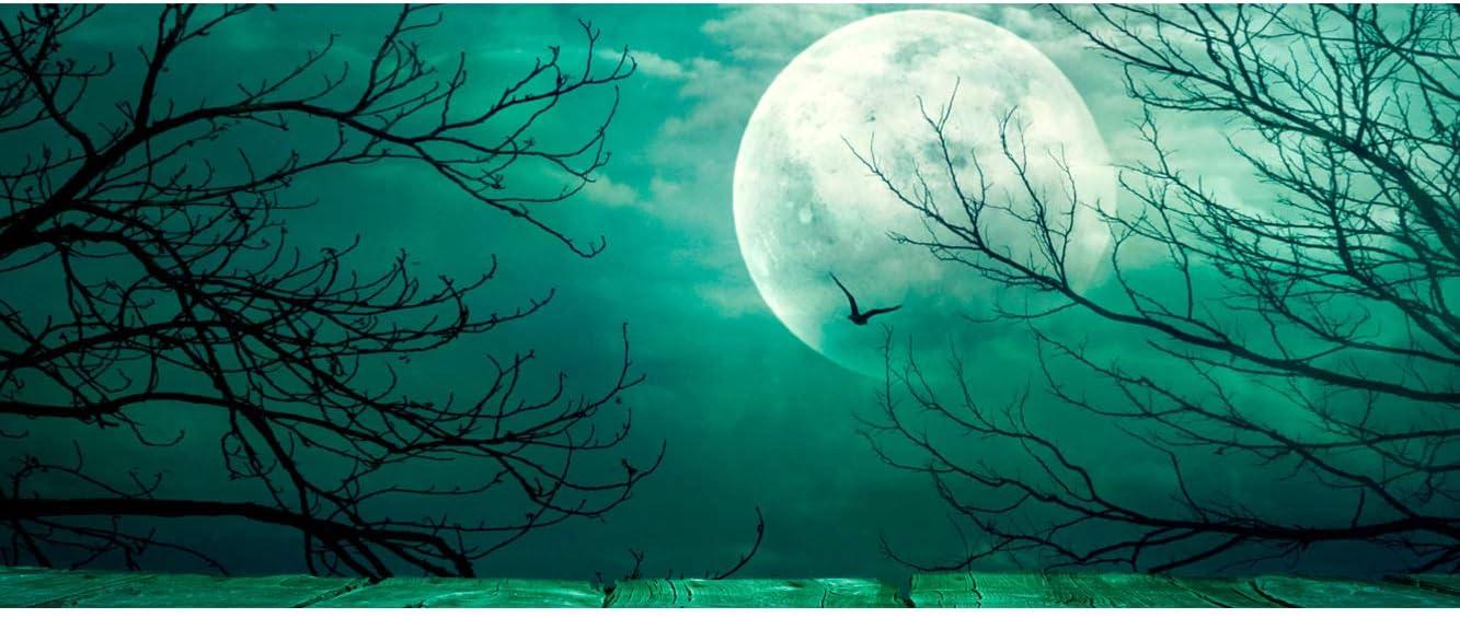 Cabecero Ligero Oedim Cabecero Cama PVC Spooky Bosque con Luna Llena Elegante 100x60cm Resistente y Econ/ómico
